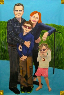 FAMILY PORTRAIT 48x72 acrylic on paper   SOLD