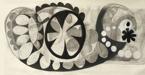 Giant Doodle  charcoal, gesso on paper  48 x 96  SOLD