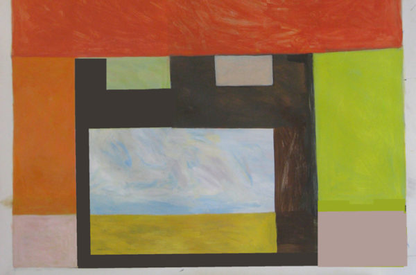 Prairie Window 30 x 42  acrylic on paper  SOLD